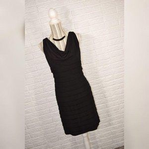 American Living Black Ruffled Dress